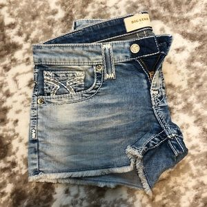 big star liv denim shorts